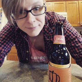 Beth Mattson drinks local New Glarus Uff Da beer